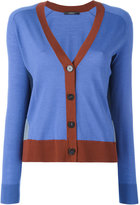 Odeeh contrast detail V-neck cardigan - women - Virgin Wool - 36