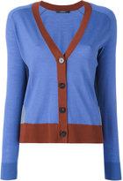 Odeeh contrast detail V-neck cardigan - women - Virgin Wool - 40