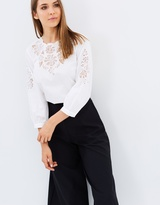 Whistles Beatrice Cutwork Cotton Top