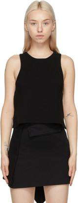 Lourdes Black Backless Tank Top
