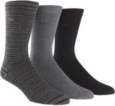 Calvin Klein 3pk Combed Flat Knit Sock