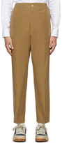 Gucci Khaki Cotton Poplin Label Trousers