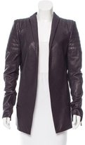 Haider Ackermann Leather Open Front Jacket