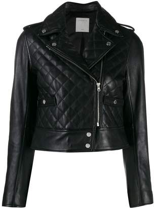 Sandro Paris quilted biker jacket