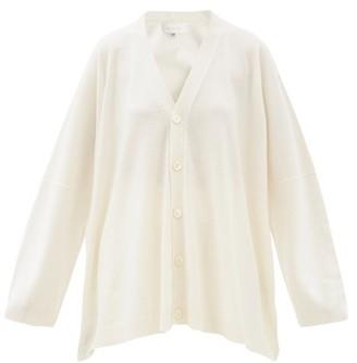 eskandar Oversized Cashmere Cardigan - White