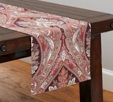 Pottery Barn Anton Paisley Table Runner, Red