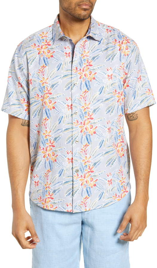 Tommy Bahama Florence Flora Classic Fit Short Sleeve Button-Up Shirt