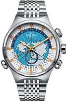 Edox Men's 07002 3 C1 Geoscope Analog Display Swiss Automatic Silver Watch