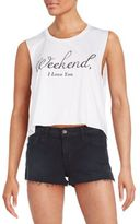 Wildfox Couture Cropped Weekend Chad Tank