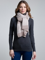 White + Warren Cashmere Stripe Essential Scarf