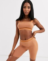 Nubian Skin Cocoa by NS legging shorts in light