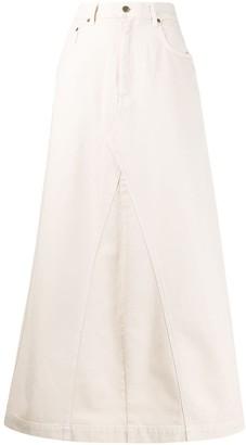 Nanushka Mae denim long skirt
