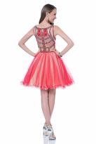 Terani Couture 1611P0115A Ornate Illusion Tutu Dress