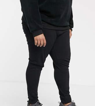 Asos Design DESIGN Plus skinny lightweight joggers in black