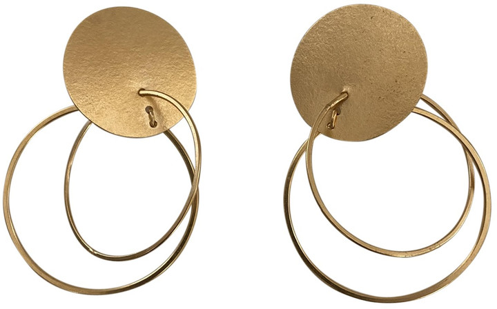 Annie Costello Brown Gold Gold plated Earrings