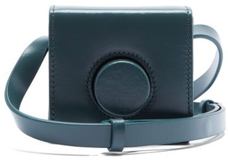 Lemaire Camera Mini Grained-leather Cross-body Bag - Dark Green