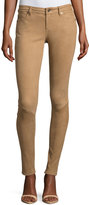 AG Jeans Suede Low-Rise Extra-Skinny Leggings, Tan