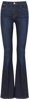 Frame Le High Flare Dark Blue Jeans
