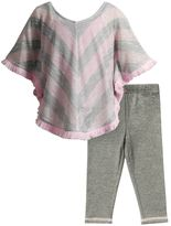 Youngland Baby Girl Sweater Knit Poncho Top & Leggings Set