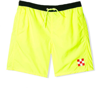 MC2 Saint Barth Saint Barth Kids Fluo Yellow Bermuda