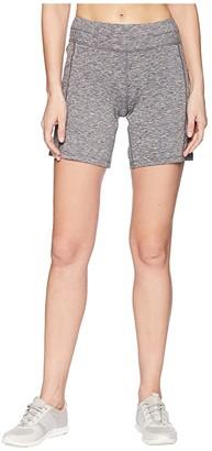 Asics Knit 7 Shorts (Dark Grey Heather) Women's Shorts