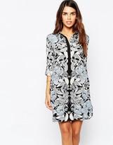Warehouse Nouveau Print Shirt Dress