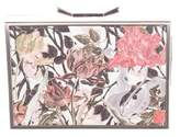 Lee Savage Floral Print Space Clutch