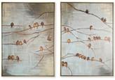 Graham & Brown Flock of Birds 2-Pc. Handpainted Framed Canvas Wall Art Set