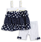 Little Lass Baby Girls Baby Girls Daisy Tiered Tunic and Leggings Set