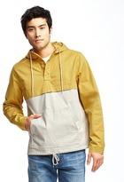 Old Navy Color-Block Twill Pullover Hooded Jacket Men