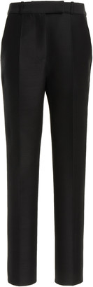 Martin Grant Wool-Silk Straight-Leg Trousers