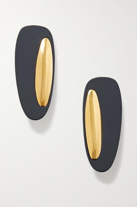 Monica Sordo Peggy Coated Gold-plated Earrings - one size