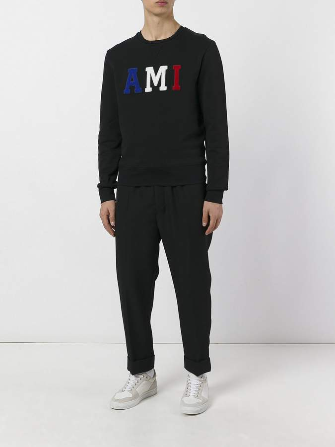 Ami Alexandre Mattiussi Elasticated waist carrot-fit trousers