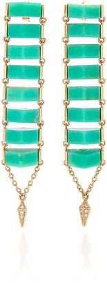 Karma el Khalil Chrysoprase and Rose-Gold Ladder Earrings