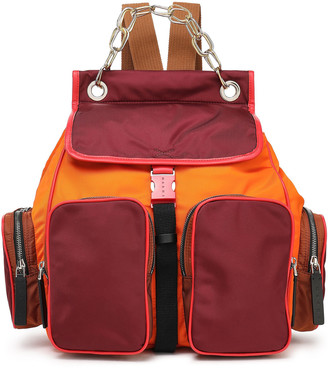 Marni Leather-trimmed Color-block Backpack