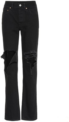 Vetements Distressed straight jeans