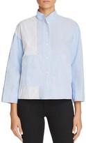 DKNY Pure Patchwork Stripe Shirt