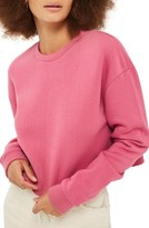 Topshop Women's Crop Sweatshirt