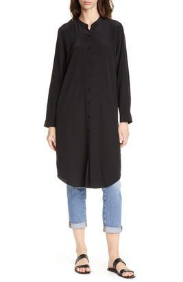Eileen Fisher Silk Tunic Shirt