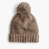 J.Crew Pom-pom hat in marled Italian wool blend