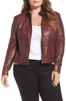 Plus Size Women's Slink Jeans Leather Moto Jacket