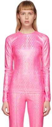 Saks Potts Pink Saya Shimmer Top