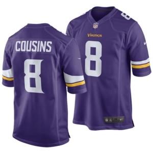Nike Kirk Cousins Minnesota Vikings Game Jersey, Big Boys (8-20)
