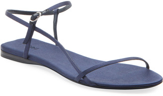 The Row Bare Silk Flat Sandals