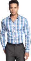 INC International Concepts Shirt, Long Sleeve Slim Fit Derbyan Shirt