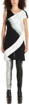 Rick Owens Diagonal Panelled Mini Dress