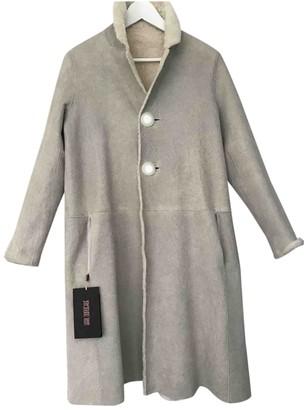 Karl Donoghue Ecru Shearling Coat for Women