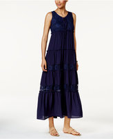NY Collection Lace-Up Maxi Dress