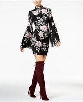 GUESS Luba Printed Bell-Sleeve Dress