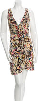 Alice + Olivia Silk Abstract Print Dress